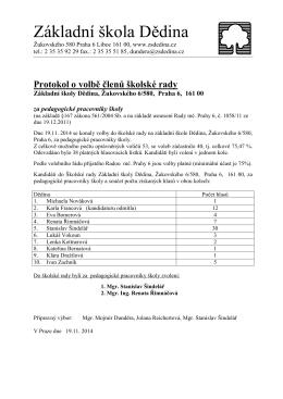 volební protokol pg - Základní škola Dědina