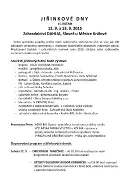 Jiřinkové dny - 2015 - SLOVEČ