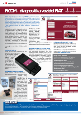 FiCOM - diagnostika vozidel FIAT - Auto