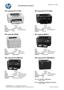 HP LaserJet Pro P1102 HP LaserJet Pro P1102w HP