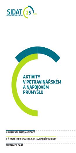 Aktivity v potravinářském a nápojovém průmyslu