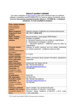 Výzva 56 I. - Střední průmyslová škola stavební Pardubice