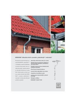 RHEINZINK®-Odvodnění střech v provedení