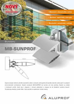 Prospekt slunolamů MB-Sunprof - msv