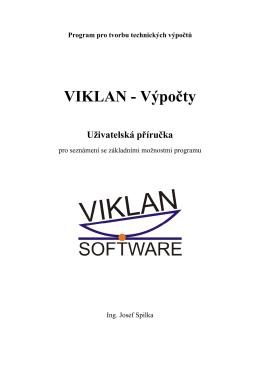 Uživatelská příručka VIKLAN ® Výpočty