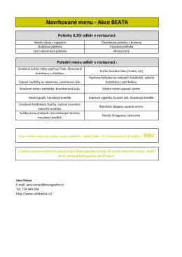 Polední menu pro krátkodobé nájmyke stažení ve formátu PDF
