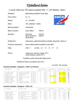 3. závod seriálu MČR FSR V - Holice