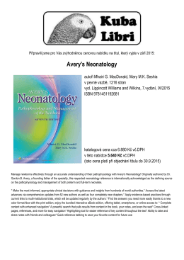 Avery`s Neonatology