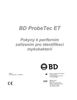 BD ProbeTec ET Pokyny k periferním zařízením pro identifikaci