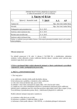 Směrnice 02 - Školní řád