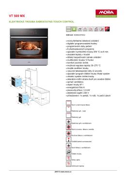Produktový list VT 569 MX