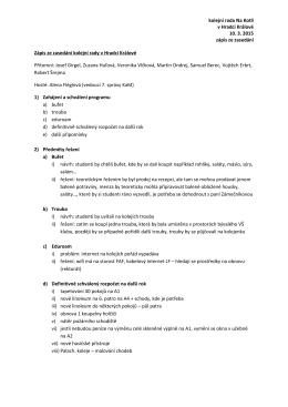 Zápis KR Na Kotli 10. 3. 2015