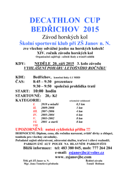 Decathlon cup Bedřichov 2015