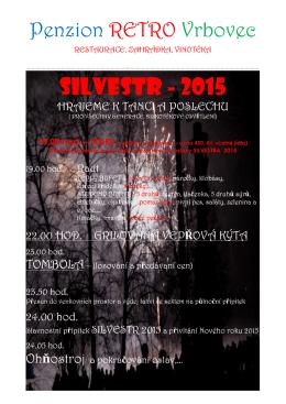SILVESTR - 2015 - Penzion Retro Vrbovec