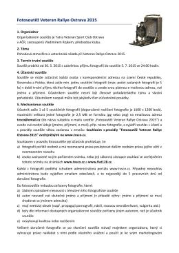 Pravidla soutěže - Tatra Veteran Sport Club Ostrava v AČR