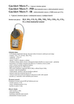 Ex a foto-ionizační senzor