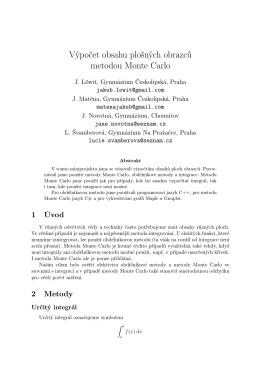 Výpočet obsahu plošných obrazců metodou Monte Carlo