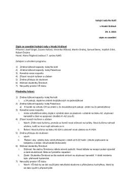 Zápis KR Na Kotli 29. 4. 2015