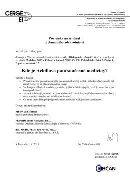 Kde je Achillova pata současné medicíny?