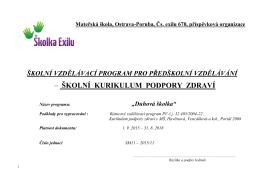Školní vzdělávací program – verze pro web