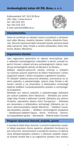 Archeologický ústav AV ČR, Brno, v. v. i.