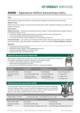 AMKB – Aparatura měření koncentrace bóru