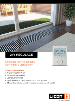 24V REGULACE - LICON HEAT sro