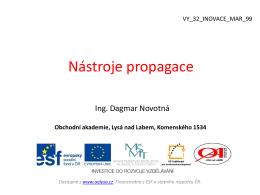 9. Propagace Promotion - Obchodní Akademie Lysá nad Labem