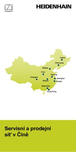 Servisní a prodejní síť v Číně