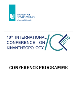 file - 10th international conference on kinanthropology