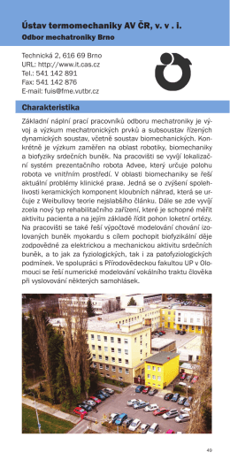 Ústav termomechaniky AV ČR, v. v . i.