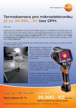 Termokamera pro vývoj mikroelektroniky za