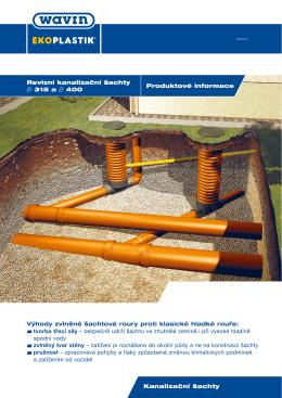 Produktové informace Revizní kanalizační šachty