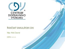 Řidičský simulátor CDV