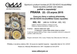 Zájezd do Prahy- 22.8.-23.8.2015