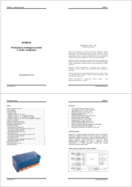 AXAM 02 Průmyslový analogový modul s 10-bit. rozlišením