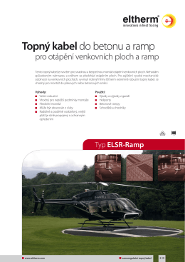Katalogový list ELSR-Ramp