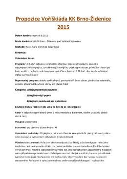 Propozice Voříškiáda KK Brno