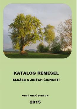 katalog spojený s obálkou doplňovaný průběžně