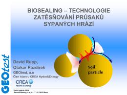 Rupp – Biosealing - Konference VODNÍ NÁDRŽE