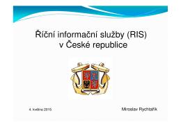 Říční informační služby (RIS) v České republice