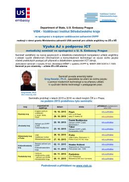 Výuka AJ s podporou ICT - Vzdělávací institut Středočeského kraje