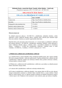 Směrnice 50 - Úplata v MŠ