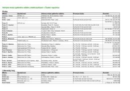 Veřejná místa zpětného odběru elektrozařízení v České republice