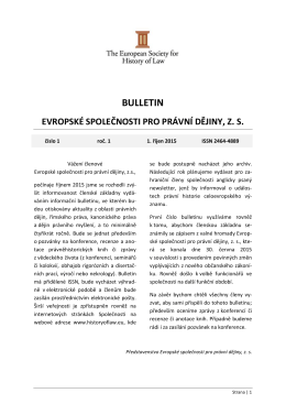BULLETIN - The European Society for History of Law