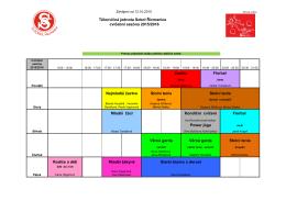 Rozvrh cvičení 2015-2016