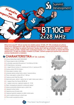 CHARAKTERISTIKA BT 10G 2x28 MHz
