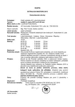 ROZPIS EXTRALIGA MASTERS 2015 Košumberské okruhy