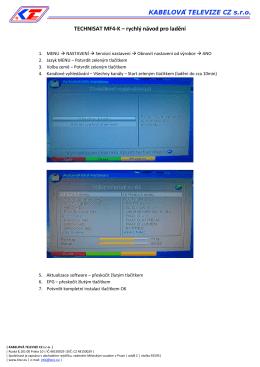 TECHNISAT MF4-K – rychlý návod pro ladění