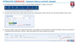 FOTBALOVÁ (R)EVOLUCE – Vystavení faktury (rozhodčí, delegát)